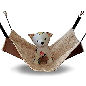 JOYELF Cat Hammock Bed Pet Cage Hammock, Hanging Soft Pet Bed for Kitten Ferret Puppy or Small Pet 45