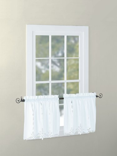 Euphoriahome Battenburg Lace Kitchen Curtain Valance Swags Tiers White 24 L Buy Online In Guyana At Desertcart Com Productid 18876893