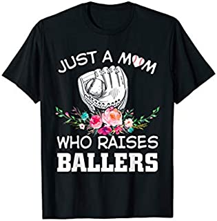 [Featured] Funny Baseball Mother Apparel Flower Mother Who Raise Baller in ALL styles | Size S - 5XL