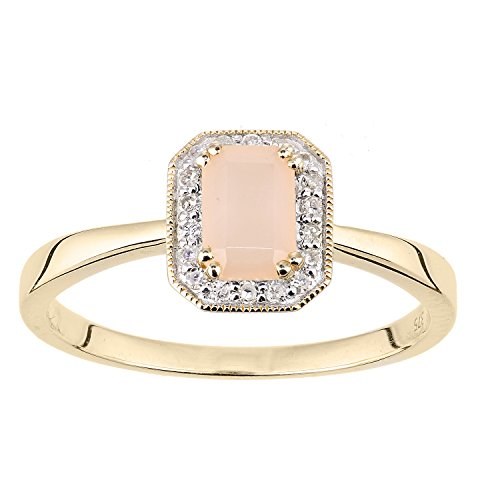 9k Yellow Gold Opal Ring - 3