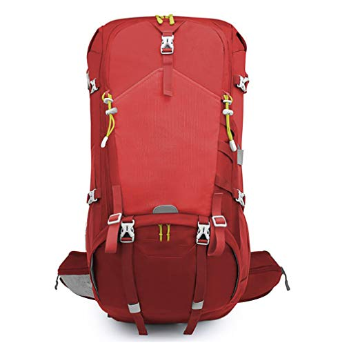 AY Polyester 50L MBJDFX Red Man Size Travel 40KG Waterproof Mountaineering Backpack Bearing Weight woman camping Color Fabric backpacking Blue 50L Multifunction FF8wxqr41