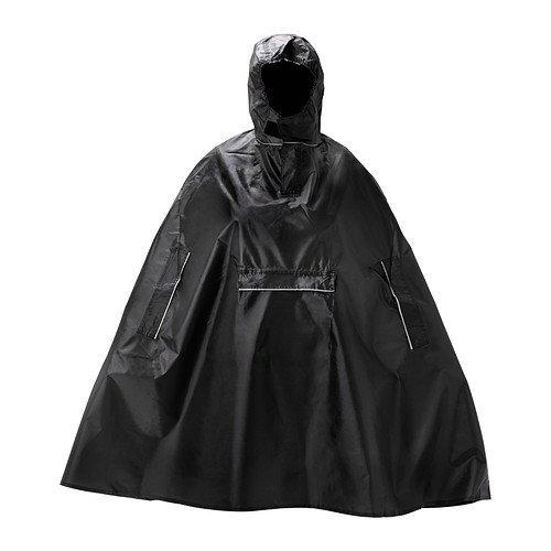 Ikea Knalla Rain Poncho, Black