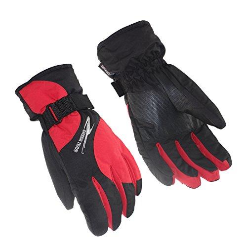 SHARBAY Winter Gloves Warm Waterproof Windproof Outdoor Glove Cycling Gloves Biking Gloves Cold Weather Ski Snowboard Gloves for Men Women (Red, M)