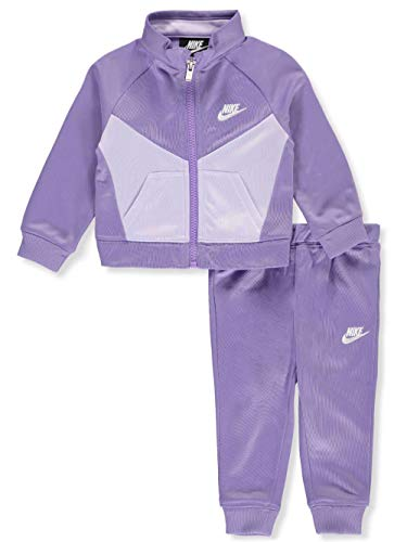 Nike Baby Girls' 2-Piece Tracksuit - Purple, 6-9 Months