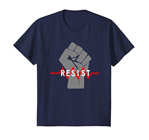 Kids Resist T-Shirt Fist Science Resistance Physics Resistor 4 Navy