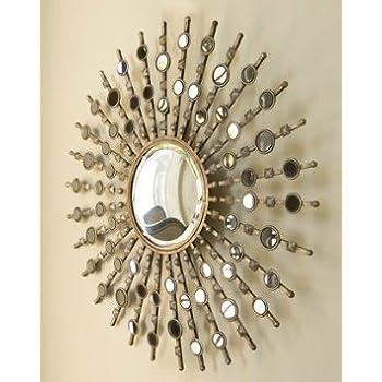 Amazon Com Uttermost 12619 P Raindrops Sunburst Mirror
