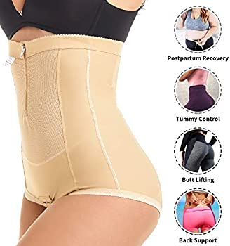 Postpartum Belly Wrap C Section Panty Belly Band Abdominal Compression Corset Girdle Shorts with Zipper