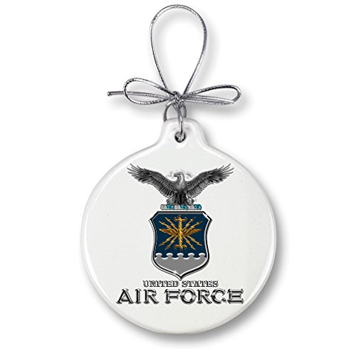 Christmas Ornaments - United States Air Force Gifts for Men or Women - USAF Ornaments with a Silver Ribbon - Air Force USAF Missile Xmas Ornaments (1 Piece)