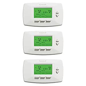 Honeywell RTH7500D 7-Day Programmable Heating/Cooling System Thermostats, 3-Pack
