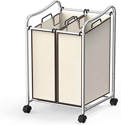 Simple Houseware Rolling Laundry Sorter