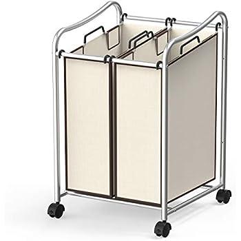 Amazon Com Simple Houseware 2 Bag Heavy Duty Rolling