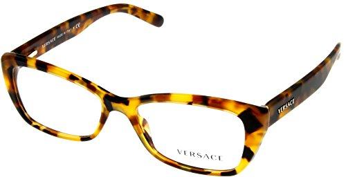 Versace Women Eyeglasses Designer Havana Rectangular VE3201 - Eyeglass Frames Versace Cheap