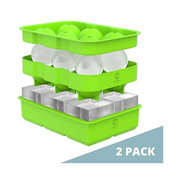Oliver's Kitchen – Set di 2 Vassoi per Cubetti di Ghiaccio – Tieni Più Freschi Più a Lungo i tuoi Drink – Grandi Stampi… 1 spesavip