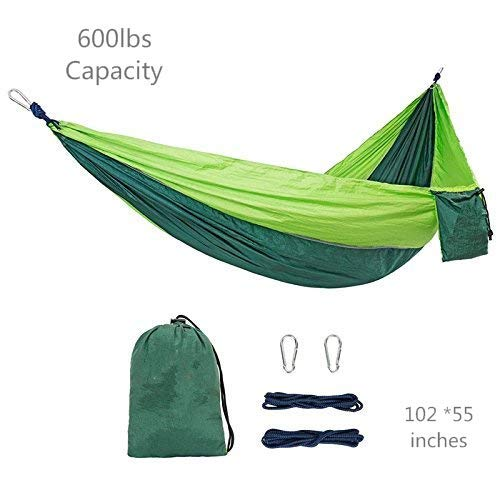 Kootek Camping Hammock Portable Indoor Outdoor Tree Hammock with 2 Hanging Straps, Lightweight Nylon Parachute Hammocks for Backpacking, Travel, Beach, Backyard, Hiking by Kootek