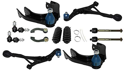Detroit Axle - 12PC Front Upper Lower Control Arms, Sway Bars, Inner and Outer Tie Rods w/Boot for 95-00 Chrysler Cirrus - [97-05 Sebring] - 96-06 Dodge Stratus - [96-00 Plymouth Breeze]