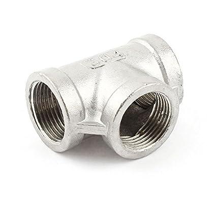 3 / 4BSPP Hembra 3-Way de acero inoxidable Conector del tubo ...
