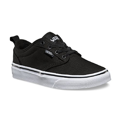 Vans Kid's Atwood Slip-On Skateboarding Shoe (Canvas) Black/White (10.5)