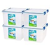 Ziploc 44 Qt./11 Gal. WeatherShield Storage Box, Clear/Pack of 4