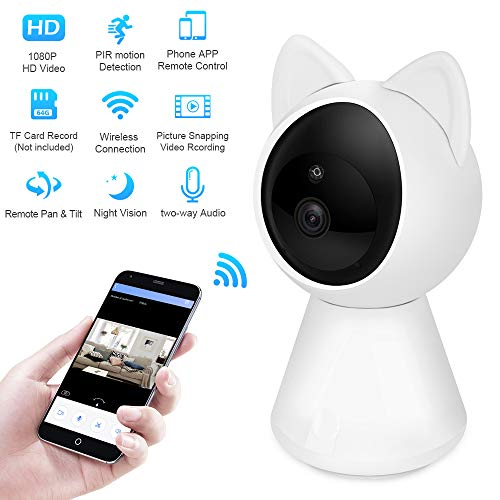 NewPal WiFi Camera 1080P Home Wireless Security Camera with Auto Tracking,  Motion Detection,2 Way Audio, Night Vision  Good to use for Baby Monitor,