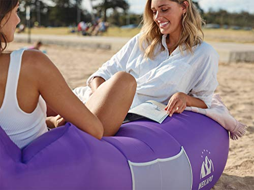 Wekapo Inflatable Lounger Air Sofa Hammock-Portable,Water Proof& Anti-Air Leaking Design-Ideal Couch for Backyard…