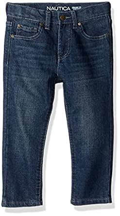 Nautica Big Boys' Slim Straight Jeans, Stanley Seaworthy, 10