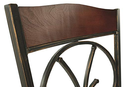 Ashley Furniture Signature Design - Glambrey Dining Room Chair Set - Scrolled Metal Accents - Set of 4 - Brown by Signature Design by Ashley (Image #9)