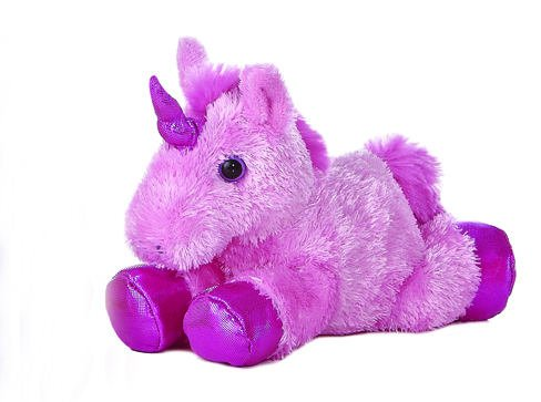 "1 X Unicorn Pink Mini Flopsie 8"" by Aurora"
