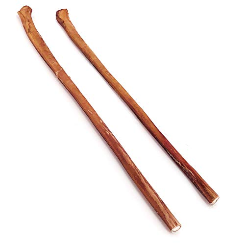 ValueBull Premium Bully Stick Canes, Thick 22-24 Inch, 2 Count, Natural Dog Chews – Angus Beef, Rawhide Alternative