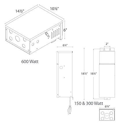 Amazon.com: WAC Lighting 9075-TRN-SS 75W Magnetic Landscape Lighting ...