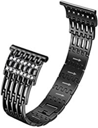 2019 Watch Bands Luxury Alloy Crystal Stainless Steel Wristband Strap Band for Fitbit Versa