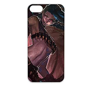 Jinx-003 League of Legends LoL case cover for Apple iPhone 5/5S - Plastic White