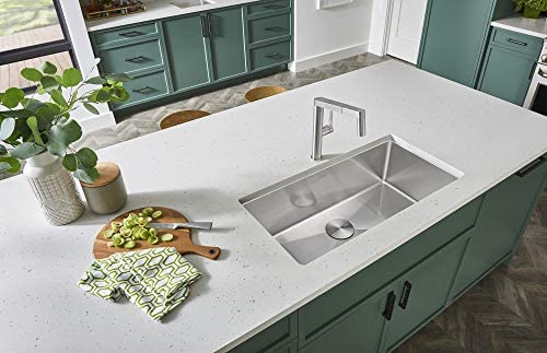 Blanco 519548 Quatrus R15 Under Mount Single Bowl Kitchen Sink, Large,  Stainless Steel
