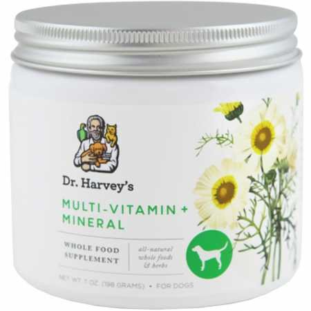 Picture of Dr. Harvey's Herbal Multi-Vitamin and Mineral Supplement for Dogs, 7-Ounce Tin