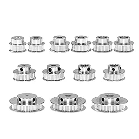 /RepRap Bowden Prusa i3/Mendel Makerbot Kossel Delta Usongshine 5/pezzi in alluminio 2/GT GT2/sincrono ruota 36//40//60/denti Alesaggio puleggia per stampante 3D 6/mm larghezza cinghia dentata/