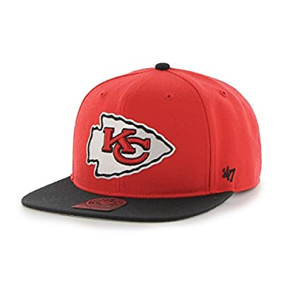 Kansas City Chiefs Torch Red Super Shot Two Tone 47 Captain Wool Flat Bill Hat W1