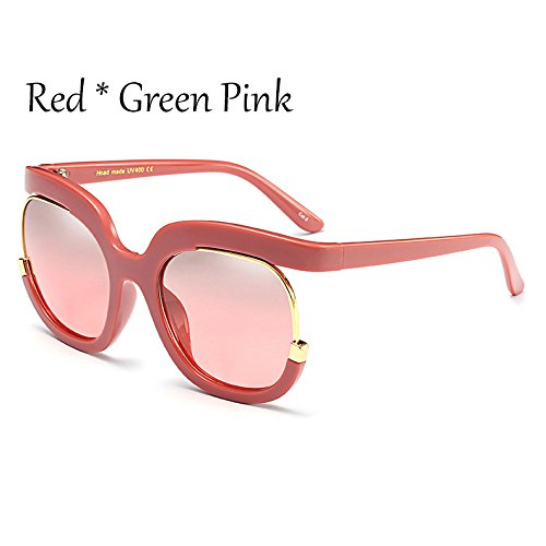 Grande Mujer TIANLIANG04 Marco Gradiente Sol C6 Frame Señoras Sol Gafas Red Bastidor Vintage De Gafas C6 De Clout De Gafas Rojo 1aqC8qw0r