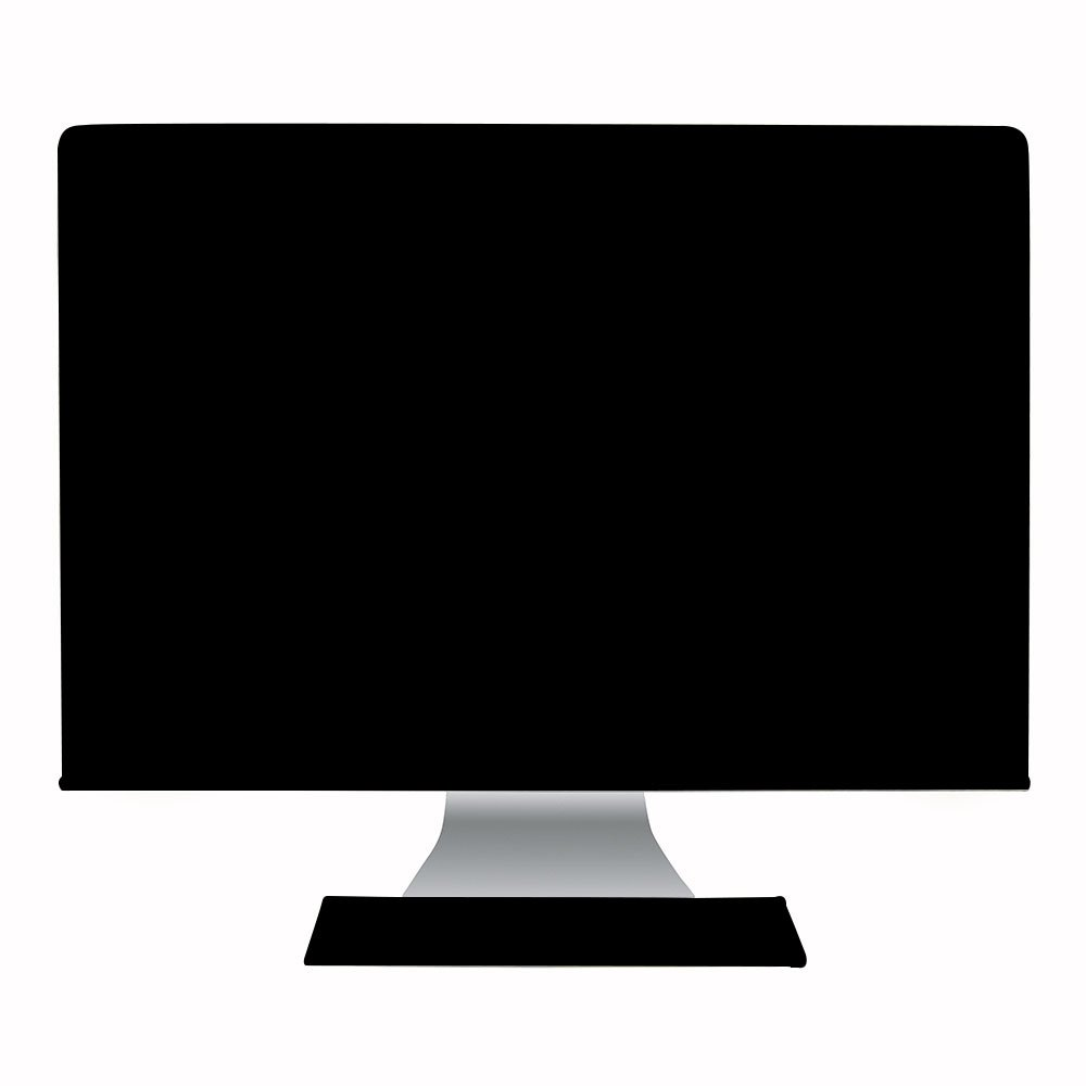 Hermitshell El polvo y la cubierta resistente al agua como la seda antiestá tico con forro de terciopelo suave caja cubrir Apple iMac monitor y teclado para iMac 21.5' Color: Negro