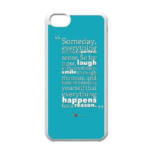 M1Y65 jour tout fera parfaite devis sens cas de téléphone N7J3CM coque iPhone 5c cellulaire couvercle coque blanche KP3ETO7TK