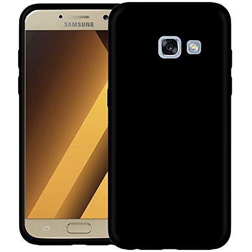 Samsung A5 2017 Hülle, Acelive Slim Matt TPU Silikon Handyhülle Schutzhülle Samsung Galaxy A5 2017 Case in Schwarz