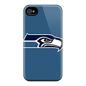 New DMx17240ZODh Seattle Seahawks 2 Skin Cases Covers Shatterproof Cases For Iphone 4/4s