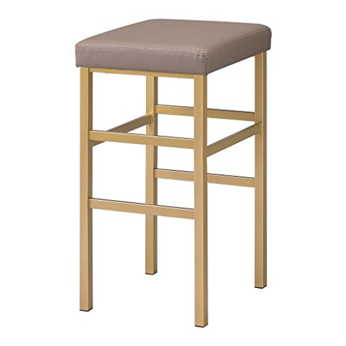 Office Star Backless Stool with Gold Frame, 30-Inch, Camel by OSP Designs