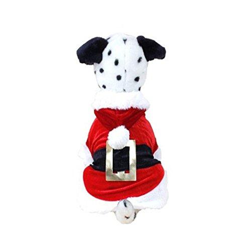 Pet Apparel, ღ Ninasill ღ Christmas Dog Clothes Santa Doggy Costumes Pet Apparel New Design (L, Red)