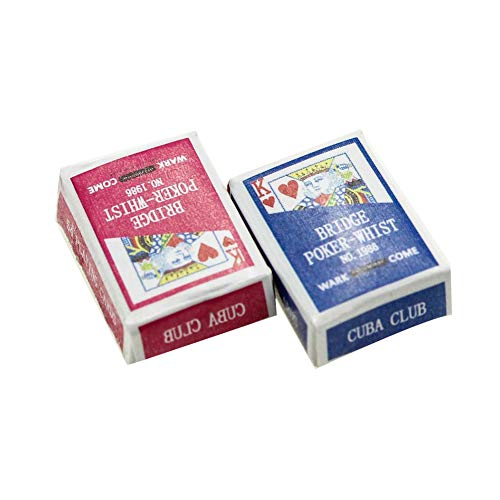 ruiycltd Dollhouse Accessories Poker Cards Miniature Scene 1:12 Mode Playing Game Kid Toy - Random Color