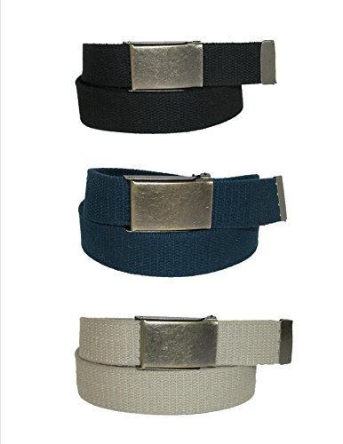 CTM Men's Big & Tall Belt with Flip Top Brass Buckle (Pack of - Buckle Big Brass