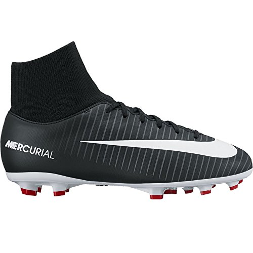 Pictures of NIKE Jr. Mercurial Victory VI Dynamic Fit 903600 Black/Dark Grey/University Red/White 1