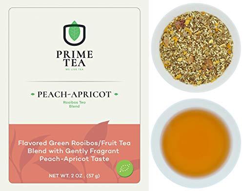 ROOIBOS TEA - 2 Ounce of Tea ≈ 30 servings - Delicious Vegan Caffeine Free Non-GMO All Natural Flavors Assortment of Loose Leaf Tea - Hot or Iced -6o9 Group - (Peach-Apricot, 2oz)