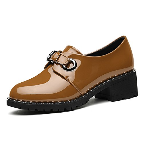 PUMPS Damen Schuhen mit Hohen Absätzen,Englische Schuhe für hunderte von Studenten,Modeschuhe-B Fußlänge=22.8CM(9Inch)