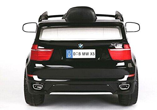 RIRICAR BMW X5 Negro, Asiento Tapizado, Los niños del Coche, Control Remoto 2,4 GHz, los niños del Coche eléctrico, Coche niños, 2X Motor, batería de 12 V, ...