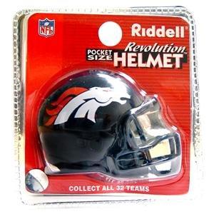 (Denver Broncos Revolution Style Pocket Pro NFL Helmet by Riddell)