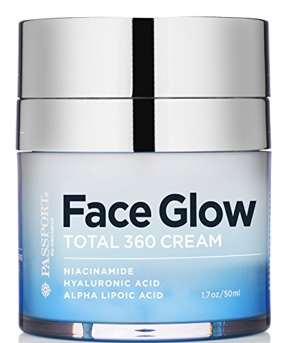 Face Glow - Total 360 Regeneration Cream with Alpha Lipoic Acid, DMAE, Vitamin C Ester, Hyaluronic Acid, and Italian Blood Orange